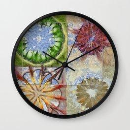 Bepainted Concrete Flower  ID:16165-003711-19651 Wall Clock