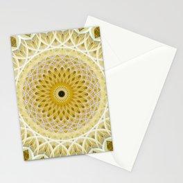 Honey and milk mandala Stationery Cards