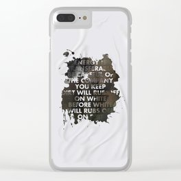 Energy Is Transferable Clear iPhone Case