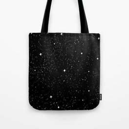 Simple psyche white stars night Tote Bag