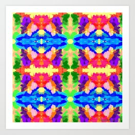 Rainbow Kaleidoscope Butterfiles Art Print