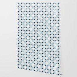 Sky Blue Classic Floor Tile Texture Wallpaper