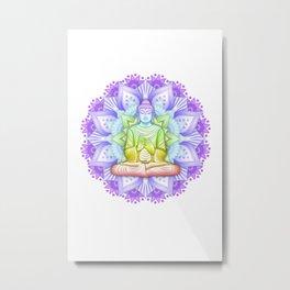 Color Mandala Metal Print