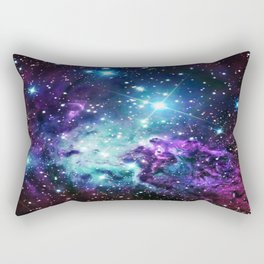 Fox Fur Nebula : Purple Teal Galaxy Rectangular Pillow