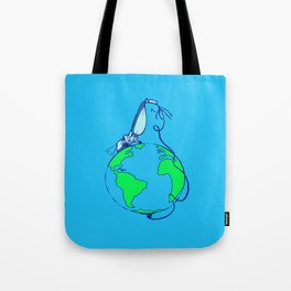Help (blue) Tote Bag