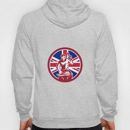British Blacksmith Union Jack Flag Icon Hoody