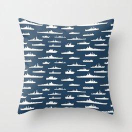 Battleship // Navy Blue Throw Pillow