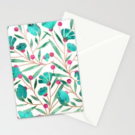 Turquoise Floral Stationery Cards