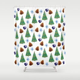 Christmas Time Shower Curtain