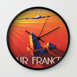 Vintage poster - Air France Wall Clock