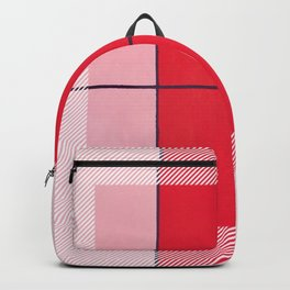 August - thin line graphic Backpack