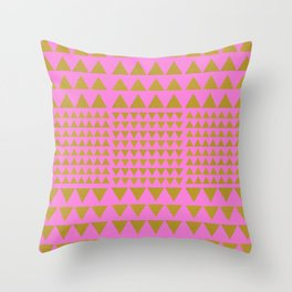 Goldentrianglepink Throw Pillow
