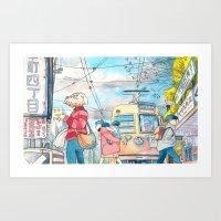 Cold In Yokohama 01 Art Print