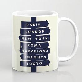 City signpost world destinations Coffee Mug