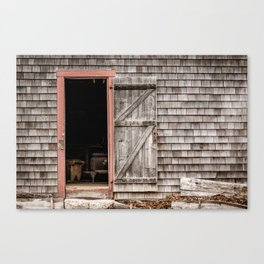 Ross Farm door Canvas Print