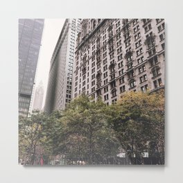 Soft City Metal Print