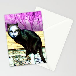 Black Cat Nahuala Stationery Cards