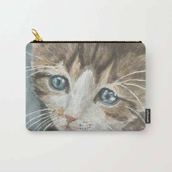 Kitten, watercolor potrait Carry-All Pouch