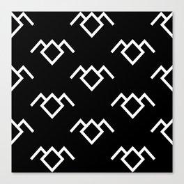 Twin Peaks Owl Petroglyph in Black Lodge Canvas Print