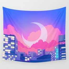 Dreamy Moon Nights Wall Tapestry