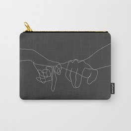 Grey Pinky Swear Carry-All Pouch