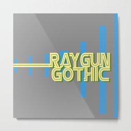 raygun gothic yellow Metal Print