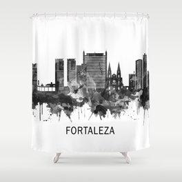 Fortaleza Brazil Skyline BW Shower Curtain