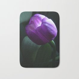 Purple Tulip Light Painting Bath Mat