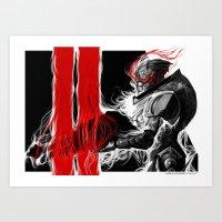 garrus Art Prints featuring Garrus Valkarian by rubyreid