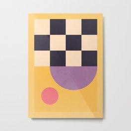 Minimal Geometric Shapes 199 Metal Print