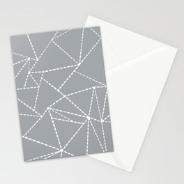 Abstract Dotted Lines Grey Stationery Cards
