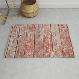 Rustic red wood Rug