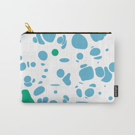 Blue Blobs on White Carry-All Pouch