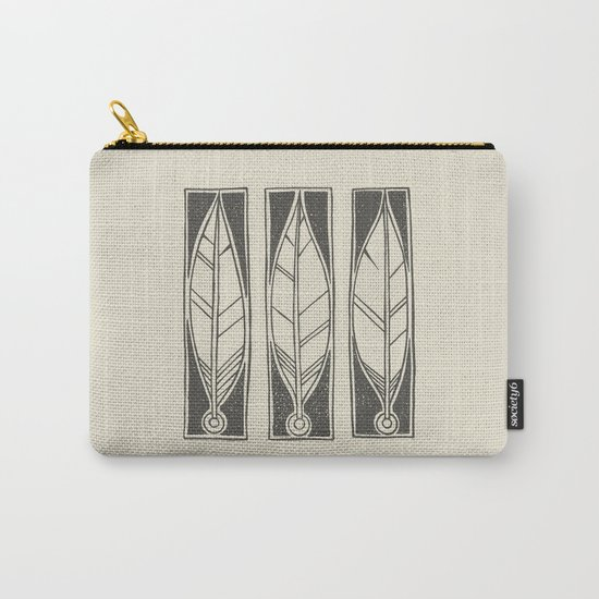 Ethnic Feathers Carry-All Pouch