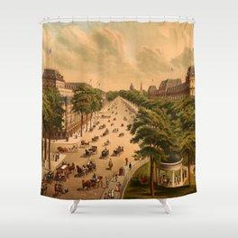 Saratoga Springs, New York (1876) Shower Curtain