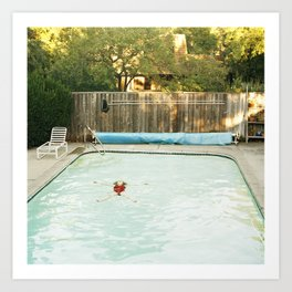 Pool Angel Art Print