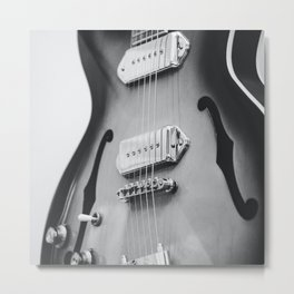 electric guitar music aesthetic hollow close up elegant mood art photography  Metal Print