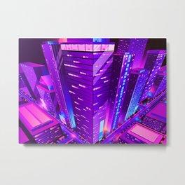 Synthwave Neon City #16 Metal Print
