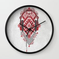 ethnic Wall Clocks featuring Ethnic by sophtunes