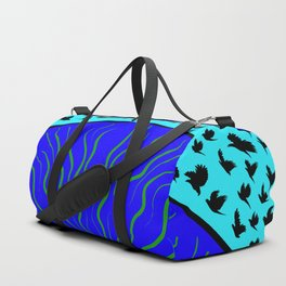 Flying Bird. Crows fly over planet Earth Duffle Bag