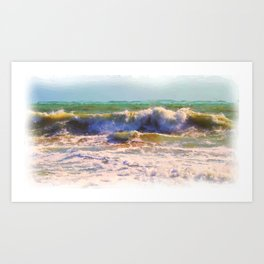 Ocean Power 2 as what else ~  A watercolor ! Art Print