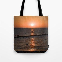 Summersunset at the Beach - Isle Ruegen Tote Bag