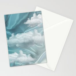 """Blue pastel sweet heaven and clouds"" Stationery Cards"
