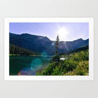 Medicine Grizzly Lake Art Print