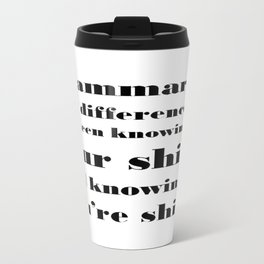 Grammar: The Difference Between Your and You're Travel Mug