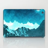 outer space iPad Cases featuring Outer Space Mountains by Phil Perkins