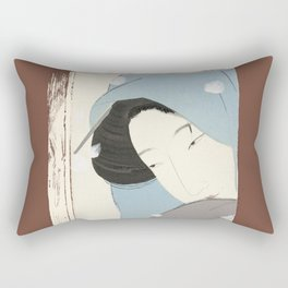 On the outside, Looking In Rectangular Pillow