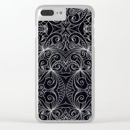 Drawing Floral Doodle G239 Clear iPhone Case