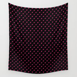 BLACK & HOT PINK BOMB DIGGITYS ALL OVER SMALL Wall Tapestry