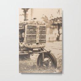 Old Vintage Tractor Woodstock Vermont Metal Print